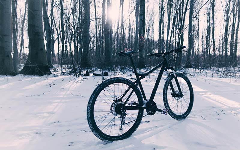 bicykel v zime